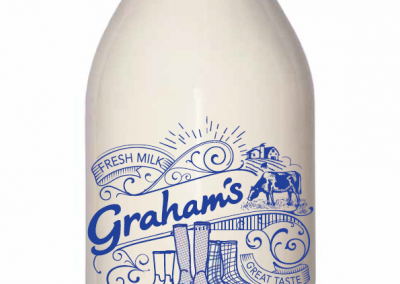 Milk - 1 pint whole- glass bottle